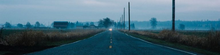 Skagit Road at Dusk